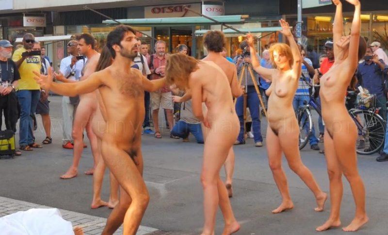 Naked Fiesta held in Swiss
